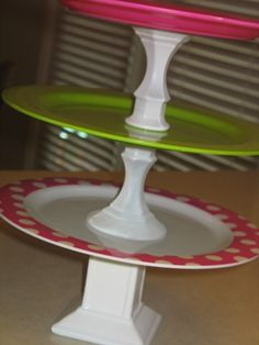 Make your own cupcake stands. So thrifty!