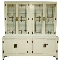 Stylish White Lacquer China Cabinet by Century Furniture | From a unique collection of antique and modern cabinets at http://www.1stdibs.com/furniture/storage-case-pieces/cabinets/