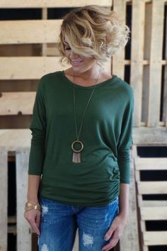 The ZigZag Stripe - Olive Dolman Long Sleeve Top, $24.00 (http://www.zigzagstripe.net/olive-dolman-long-sleeve-top/)