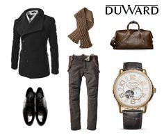 ¡Chicos! Abrigaros bien pero con mucho #estilo. #Duward os propone un #look #elegante con nuestro #reloj #Automatico #lookduward #fashion