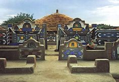 House decoration, Ndebele, South Africa