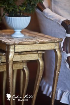Nesting Tables by Cedar Hill Farmhouse, like the colors 2nd Hand Furniture, Garden Furniture Sale, Cheap Furniture, Painted Furniture, America Furniture, Cedar Hill Farmhouse, Living Room Inspiration, Furniture Inspiration, Design Inspiration