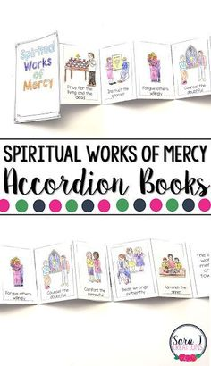 The Spiritual Works of Mercy Mini Books are the perfect activity for teaching kids about Catholic works of mercy for the soul. Catholic Saints For Kids, Catholic Religious Education, Ccd Activities, Printable Activities For Kids, Teaching First Grade, Help Teaching, Corporal Works Of Mercy, Accordion Book, Spiritual Words