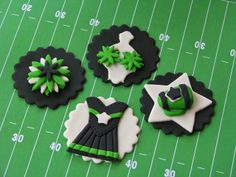 Cheerleading Cupcake Toppers by Lynlee's Petite Cakes, via Flickr