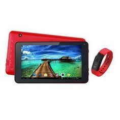 """7"""" Tablet And Red Fitband  #border51"""