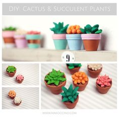 DIY: Cactus & Succulent Plants using Polymer Clay - Super fun and easy to make!: