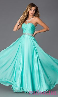Floor Length Strapless Sweetheart Alyce Dress at PromGirl.com #promgirl #dress #prom #preview