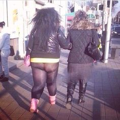 God Awful See Through Leggings. How Did Her Mom Let This Happen? Fashion Fail ---- hilarious jokes funny pictures walmart humor
