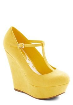 7d29bac9ed Take It from the Taupe Wedge in Sunshine. Tapping the toe of your platform  heel
