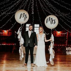 """74 Likes, 6 Comments - One Perfect Day (@oneperfectdayevents) on Instagram: """"Our Mr & Mrs balloons are proving to be a favourite, congratulations Alex! (..and that Maggie…"""""""