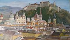 Bildergebnis für GEMÄLDE - SALZBURG Salzburg, Paris Skyline, Travel, Pictures, Viajes, Destinations, Traveling, Trips