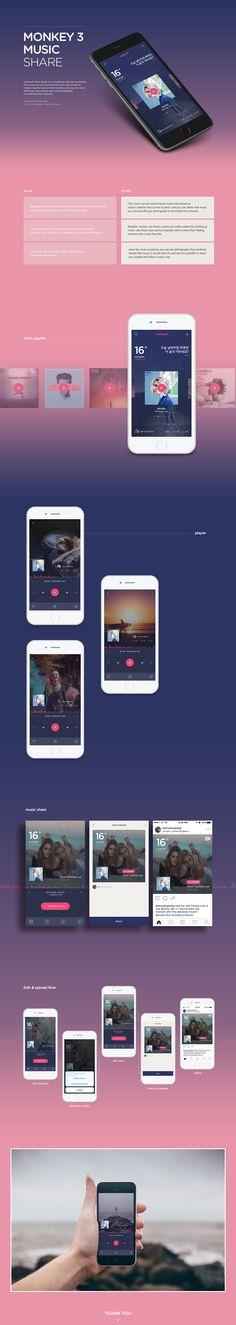 Monkey 3 music share on Behance