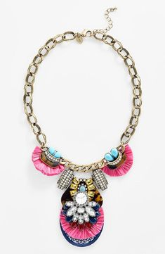 Using a statement piece to bring spring to the LBD - Faux tortoiseshell and crystal necklace