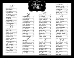Damask Wedding Seating Chart With Bride  Groom By Printmywedding