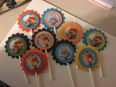 A personal favorite from my Etsy shop https://www.etsy.com/listing/265788889/zootopia-cupcake-toppers