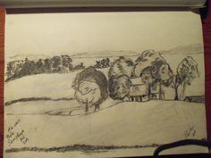 pencil sketch ,park