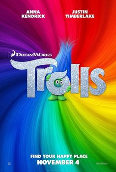 In theatres this week from directors Walt Dohrn, Mike Mitchell and DreamWorks is a sing-song, dance along life of TROLLS. http://moviemaven.homestead.com/about.html