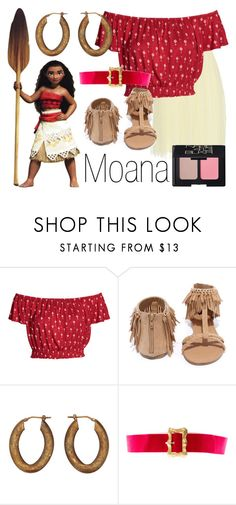 """""""Moana~ DisneyBound"""" by basic-disney ❤ liked on Polyvore featuring Disney, Qupid, Oleana, Chanel and NARS Cosmetics"""