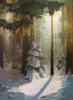 """""""Winter Dance"""" Oil on Canvas 35"""" x 27"""" Viktor Bykov"""