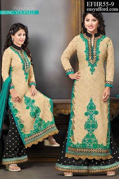 #PalazzoSuit #DesignerWear #indianwear #ethnicwear#Partywear #StraightSuit #Bollywood #Akshara #HinaKhan Today's Price Rs. 2450/- For Buy Call or Whatsapp 08968017642, 07837409851 or Click the below link http://easyafford.com/palazzo-suits/1549-akshara-3d-embroidered-palazzo-suit.html