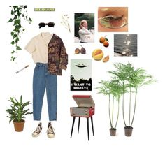 everyday by blkgrid on Polyvore featuring Converse, Versace, Dot & Bo and La Bella Figura