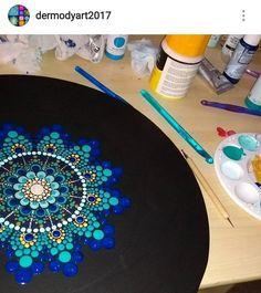 Mandala Painting, Dot Painting, Mandala Dots, Hard Rock, Rocks, Craft Ideas, Crafts, Art, Mandalas