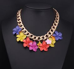 Free Shipping New 2014 Z Brand design RA Luxury Colorful Flowers Bubble Statement Chunky Clavicle Necklace fake collar jewelry-in Choker Nec...