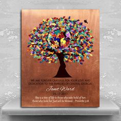 Personalized Plaque Autism Teacher Gift for Autism Teacher