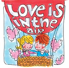 Love is in the Air Blond Amsterdam Blond Amsterdam, Tarjetas Diy, 5d Diamond Painting, Creative Activities, Canvas Frame, Cute Pictures, Cartoons, Valentines, Love