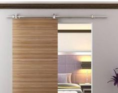 Modern Stainless Steel Decorative Sliding Door by RusticDeals
