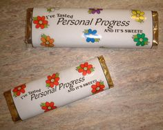 Personal Progress Candy Bar wrappers
