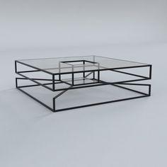 Geometric steel frame table