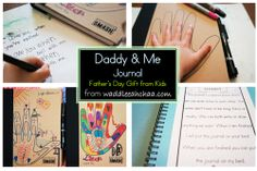 Daddy & Me Journal Father's Day Gift from Kids at waddleeahchaa.com