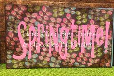 Easter & Spring blocks & signs. Find us at www.facebook.com/vinyllettersbykristin
