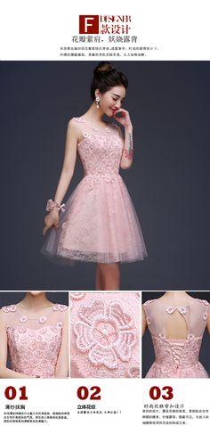 cee892df6a5a9 2017 جديد وصول قصيرة فستان العروسة النساء الوردي ثوب العروسة رسمي الكبار  الوردي sweatheart لطيف الأزياء