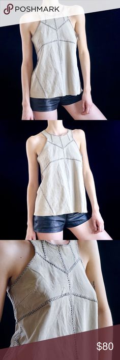 5fade9d8a812e All Saints stitched suede tank top Stitched suede tank top from All Saints.  Taupe color