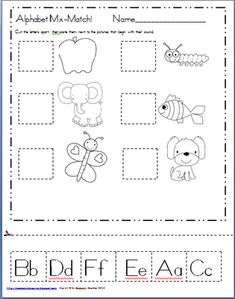Maggie's Kinder Corner: Back to School...and a FREEBIE for Matching Letters to Pictures
