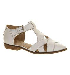 Office Kamper Flat Weave Shoe Off White Leather - Flats