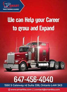 At The Smart Truck Training Academy, Our Goal is to Educate New Transport Drivers With the Highest Quality of Training by Focusing on Safe,  Legal, & Efficient Driving Habits to Meet & Exceed the Needs of All Top Canadian Carriers. For Services & More Info Contact: Call: 647-456-4040 Email: Contact@smarttta.com Website: www.Smarttta.com  #TheSmartTruck #TrainingAcademy #TrainingForTruck #DriveLikeProfessional #SafeNSecureDrive
