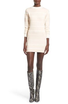 Glamorous Textured Sweater Minidress available at #Nordstrom