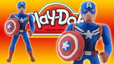 Play Doh Captain America: How To Make Marvel Captain America Play Dough