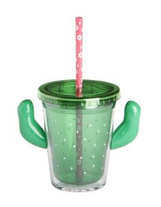 Double wall tumbler with lid, cactus arms, and straw Acrylic Hand wash only capacity Measures W x H Straw measures 8 H Plastic Tumblers, Tumblers With Lids, Green Cactus, Cup With Straw, Insulated Tumblers, Watering Can, Facebook Sign Up, Baby Gifts, Shapes