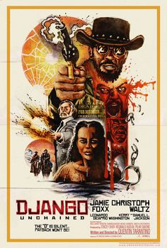 Alternative movie poster for Django Unchained by ShokXoneStudios