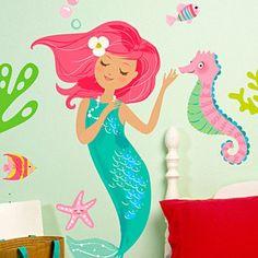 Wallies Mermaid Wall Decal
