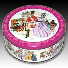 "VINTAGE ROWNTREE MACKINTOSH METAL QUALITY STREET TIN ""SOLDIER WITH A LADY"" SCENE"