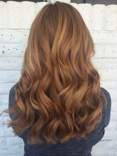 Redhead copper hair balayage by @sarah_peck