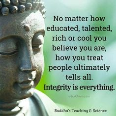 Integrity baby... integrity