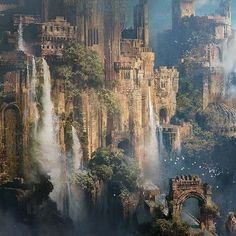 Remember the Hanging Gardens? This is a good starting point - Remember the Hanging Gardens? This is a good starting point - My Fantasy World, Fantasy City, Fantasy Castle, Fantasy Map, Fantasy Places, Fantasy Kunst, High Fantasy, Fantasy Art Landscapes, Fantasy Landscape