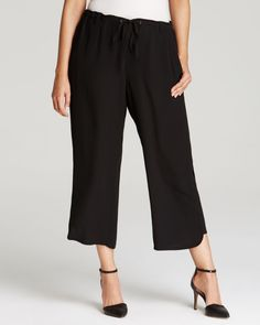 Eileen Fisher Plus Drawstring Cropped Pants - Bloomingdale's Exclusive | Bloomingdales's