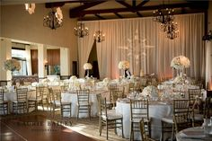 Bel-Air Bay Club Wedding - draped wall with opening